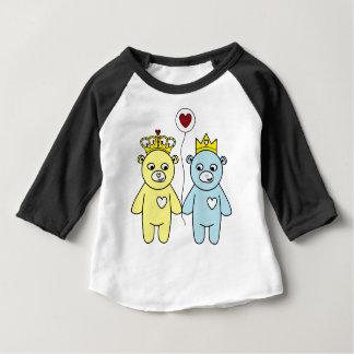 Camiseta Para Bebê casal do urso de ursinho