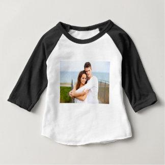 Camiseta Para Bebê Casal feliz do amor