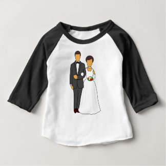 Camiseta Para Bebê Casal Wedding