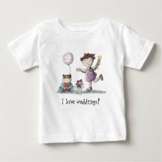Camiseta Para Bebê Casamento do cupcake da margarida!