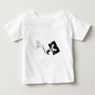 Camiseta Para Bebê Cassete de banda magnética