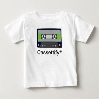 Camiseta Para Bebê Cassete de banda magnética velha de música do
