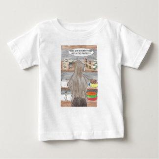 Camiseta Para Bebê Castor com fome