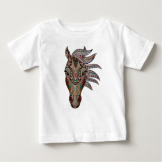 Camiseta Para Bebê Cavalo bonito