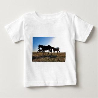 Camiseta Para Bebê Cavalo de 3 pradarias
