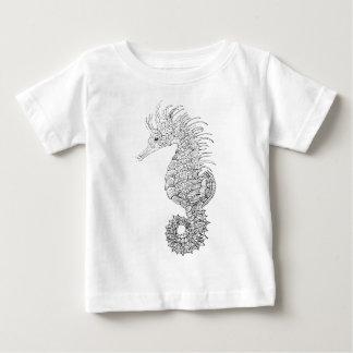 Camiseta Para Bebê Cavalo de mar