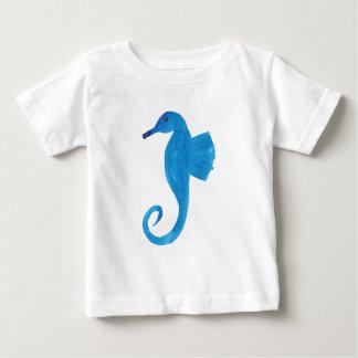 Camiseta Para Bebê Cavalo de mar muito azul