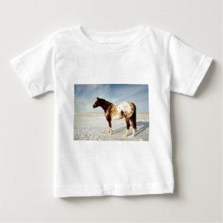Camiseta Para Bebê Cavalo do inverno