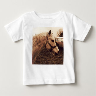 Camiseta Para Bebê Cavalo e ônibus Dappled