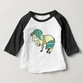 Camiseta Para Bebê Cavalo estilizado dos desenhos animados