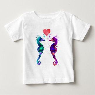 Camiseta Para Bebê Cavalo marinho, cavalo marinho no amor