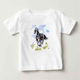 Camiseta Para Bebê Cavalo preto
