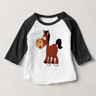 Camiseta Para Bebê cavalo vermelho dos desenhos animados