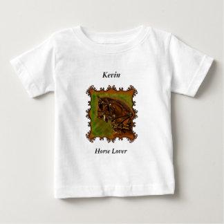 Camiseta Para Bebê Cavalos de Clydesdale em seu harnesses.sq