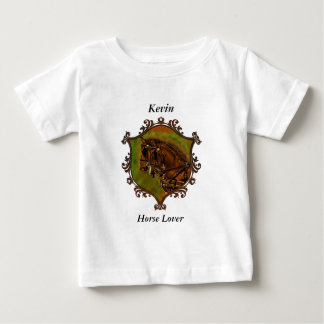 Camiseta Para Bebê Cavalos de Clydesdale em seus chicotes de fios
