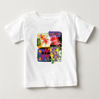 Camiseta Para Bebê Celebração floral - t'shirt do bebê