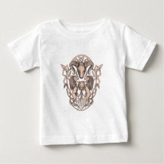 Camiseta Para Bebê Céltico Knotwo da brasão da árvore do leão dos