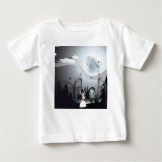 Camiseta Para Bebê Cemitério assustador do Dia das Bruxas