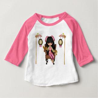 Camiseta Para Bebê Cena da boneca de Kawaii China