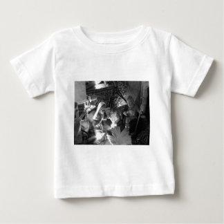 Camiseta Para Bebê Cena da natividade do Natal com estatuetas