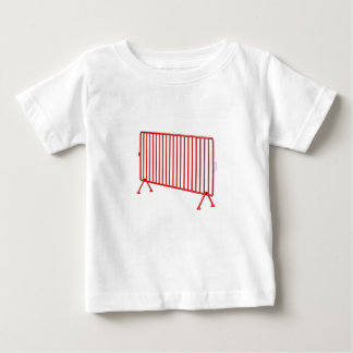 Camiseta Para Bebê Cerca móvel vermelha