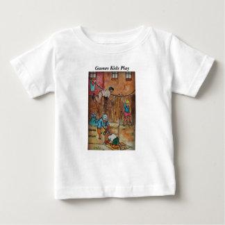 Camiseta Para Bebê Cercas, Clothesline das caixas de cartão &