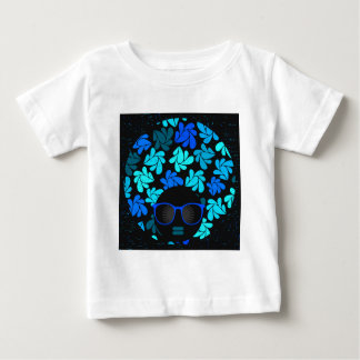 Camiseta Para Bebê Cerceta de turquesa da diva do Afro