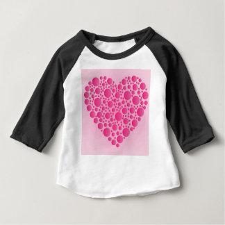 Camiseta Para Bebê Cervo cor-de-rosa da bolha