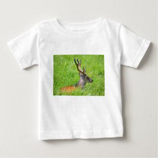 Camiseta Para Bebê Cervos de fallow do fanfarrão na grama