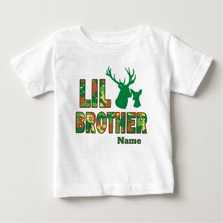Camiseta Para Bebê Cervos do caçador de Camo do big brother de Lil