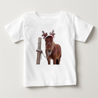 Camiseta Para Bebê Cervos do cavalo - cavalo do Natal - cavalo