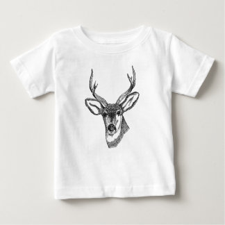 Camiseta Para Bebê Cervos do vintage