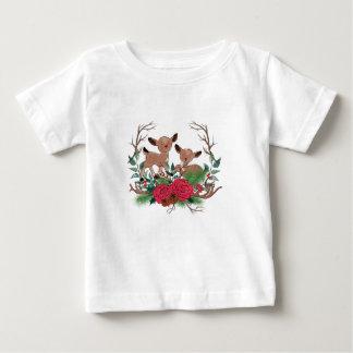 Camiseta Para Bebê Cervos pequenos com ilustração tirada mão dos