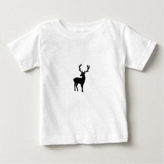 Camiseta Para Bebê Cervos preto e branco