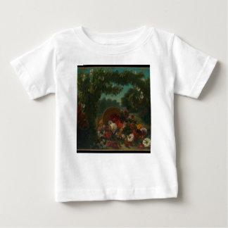 Camiseta Para Bebê Cesta das flores