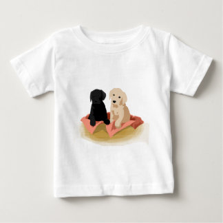 Camiseta Para Bebê Cesta do filhote de cachorro