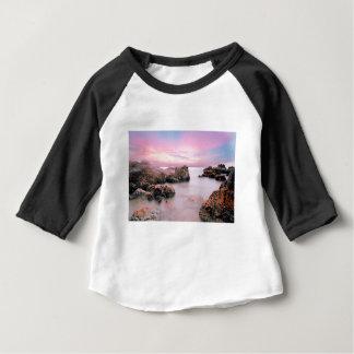 Camiseta Para Bebê Céu do algodão doce