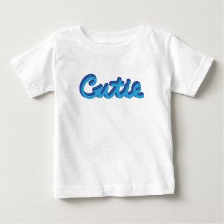 Camiseta Para Bebê Céu/marinho de Cutie