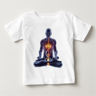 Camiseta Para Bebê chakras do homem