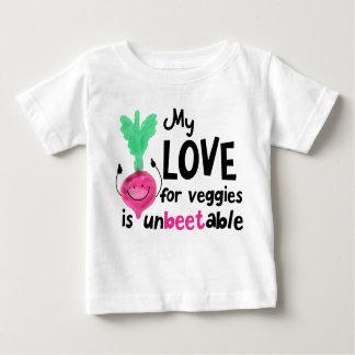 Camiseta Para Bebê Chalaça positiva da beterraba - meu amor para