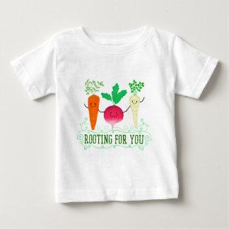 Camiseta Para Bebê Chalaça positiva da raiz - enraizando para você