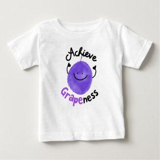 Camiseta Para Bebê Chalaça positiva da uva - consiga Grapeness