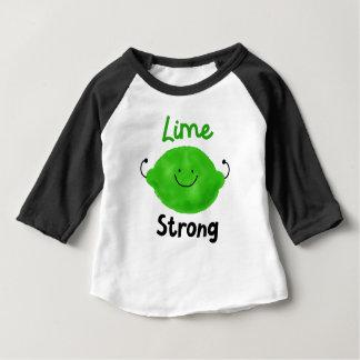 Camiseta Para Bebê Chalaça positiva do limão - limão forte