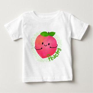 Camiseta Para Bebê Chalaça positiva do pêssego - Peachy
