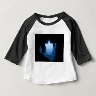 Camiseta Para Bebê Chama azul