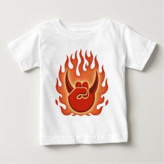 Camiseta Para Bebê Chamas da rocha do diabo