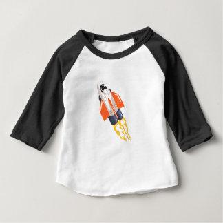 Camiseta Para Bebê Chamas de Fith da nave espacial da canela do vôo