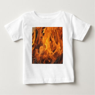 Camiseta Para Bebê Chamas - demasiado quentes a segurar