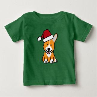 Camiseta Para Bebê Chapéu do papai noel do Natal de Galês do Pembroke