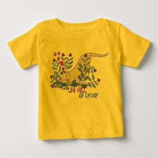 Camiseta Para Bebê Cheio da vida do Catnip